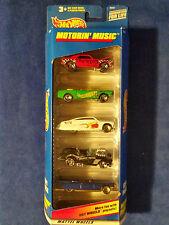HOT WHEELS 1998 MOTORIN' MUSIC  5 CAR PACK GIFT SET 1:64