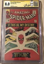 AMAZING SPIDER MAN #31 CGC SS 8.0 1ST GWEN STACEY! SIGNED BY STAN LEE W/ LABEL