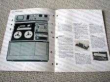 MAKE OFFER - Ampex AVR-1 reel to reel video tape recorder brochure, RARE