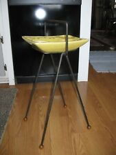 Vintage Smoking Stand Hair Pin Iron Stand Pottery Ash Tray