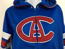 Montreal Canadiens Athletic Club Women L Blue Hoodie Vintage Hockey NHL Habs