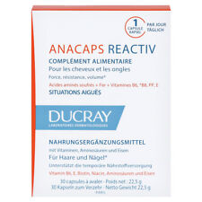 DUCRAY ANACAPS REACTIV 30 CAPS Anti-hair loss FREE SHIPPING ALL WORLD !!!