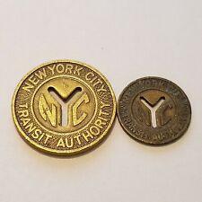 Transit Tokens - New York City Transit Authority Subway Tokens - 2 Sizes