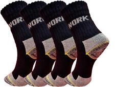 6 bis 24 Paar Herren Arbeitssocken Socken Strümpfe Baumwolle 39-42 43-46 Schwarz
