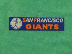 **RARE**LATE 1950s  SAN FRANCISCO GIANTS BUMPER STICKER w/VINTAGE  LOGO