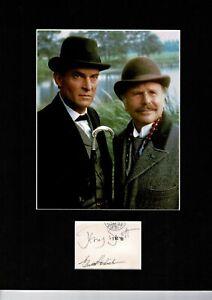 JEREMY BRETT AND EDWARD HARDWICKE SHERLOCK HOLMES  AUTOGRAPH DISPLAY UACC9