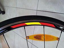 4x Spain Rim Wheel Stripe Stickers Flag Bicycle for 700c Profile 24,35,50,75