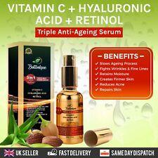 Anti Ageing Retinol 2.5% Face Serum Vitamin C 20% + Hyaluronic Acid. 3 in 1 Mix