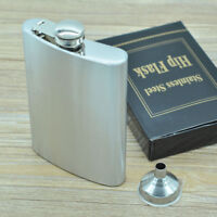 Stainless Steel Hip Whiskey Alcohol Flask  8oz Pocket Wine Bottle Gifts