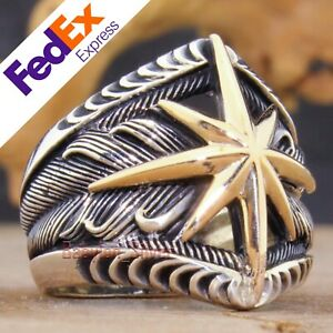 Compass 925 Sterling Silver Turkish Handmade Luxury Men's Ring All Sizes