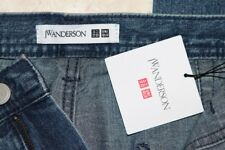 JW Anderson x Uniqlo Mens JWA Baker-Style Denim Relaxed Work Pants NEW 32x34