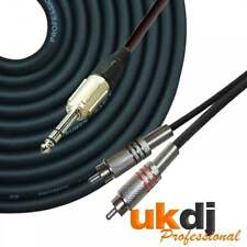 "3m 6.35mm 1/4"" pulgadas trs Jack Estéreo a Doble 2 X RCA Fono Enchufe Cable audio Lead"