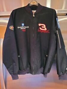 """Dale Earnhardt Sr """"The Man"""" jacket - Men's Large -Black Never Worn"""