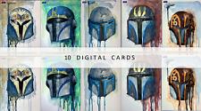 Topps Star Wars Card Trader Original Art HELMETS SIGNATURE KEVIN JOHN 10 CARDS
