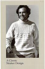 "A Classic Straker Design Knitting Pattern #882 - John's Guernsey - Unisex 34-46"""