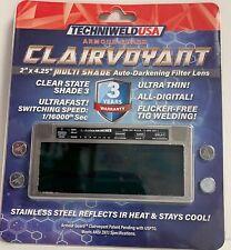 Clairvoyant Armour Guard Welding Lens 2 X 425 Multi Shade Auto Darkening