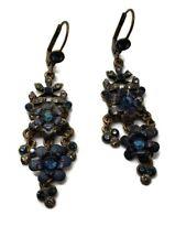 Michal Negrin  Blue Floral Chandelier Earrings