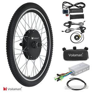 "26"" 48V Electric Bicycle Motor Conversion Kit 1000W Front Wheel E Bike Cycle Hub"