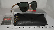 New RAY BAN Sunglasses Blaze Clubmaster Gold Green Classic RB3576N 043/71 47 140
