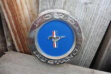FORD MUSTANG Vintage Logo Emblem Chrome Metal Mavcave Garage Shop WALL Sign