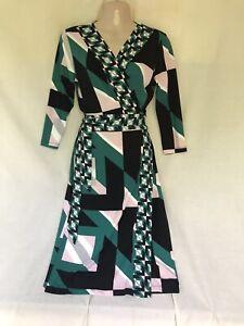 BEN DE LISI PRINCIPLES PRETTY SLINKY WRAP AROUND DRESS SIZE 12 PETITE BNWT