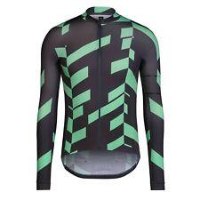 NEW Rapha Men's Cycling Pro Team Data Print Aero Jersey L XL RCC Black Green