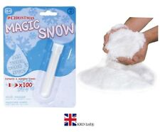 INSTANT MAGIC SNOW Craft Decoration Artificial Fake Powder Just Add Water UK