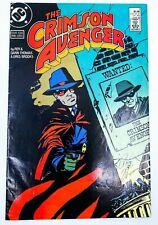 DC THE CRIMSON AVENGER (1988) #1 SIGNED by Roy THOMAS w/COA VG Ships FREE!