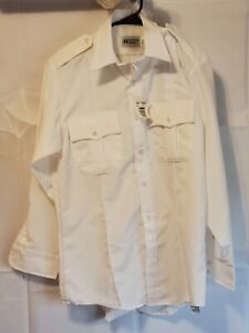Horace Small HS11496 Men Regular Sentry Long Sleeve Uniform Shirt White 15.5x33