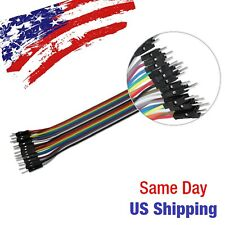 Jumper Wire Dupont Line Male to Male Arduino Breadboard PIC AVR 20pcs 20cm USA S