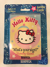 "Rare Hello Kitty ""What's Your Sign?"" Zodiac Rummy Card Game, 2001, with box"