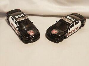 Two Burago Dodge Charger 2006 Police USA 1/43° B Burago NO Boxes