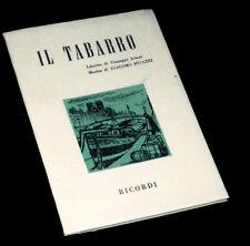 il Tabarro livret seul Adami opéra Puccini 1957
