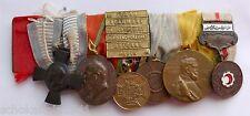 Große 6er Ordensspange mit 6 Gefechtsspangen 1870/71 Medaille des Roten Halbmond