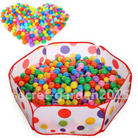50PCS SOFT PLASTIC OCEAN BALL baby kid children TOY SWIM pit pool game HF