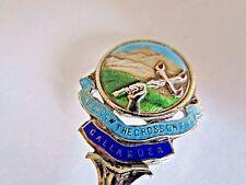 Sterling Silver & Enamel Souvenir Spoon..Callander..1927..