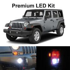 10 x White LED Interior Bulb Fog Reverse Tag Lights For 2010-2017 Jeep Wrangler