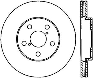 Disc Brake Rotor-Sport Drilled/Slotted Disc Front Left Stoptech 127.44138L