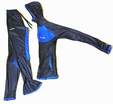 Damen 2tlg Sets Trainingsanzug Joga Sport Hausanzug Blau Fitness Gr.s