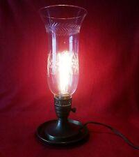 Antque European Handmade Brass & Etched Crystal Lantern Light.