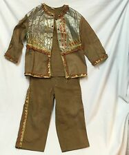 VTG Child's Native American Indian Costume 1930s Fringe Outfit Pants Shirt Set