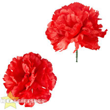 ARTIFICIAL RED CARNATION FLOWER FANCY DRESS ACCESSORY 1920'S GANGSTER FLAPPER