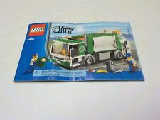 LEGO City Set 4432 Instruction Manual only for Garbage Truck