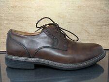 Clarks Un Walk Brown Leather Plain Toe Lace Up Casual Dress Shoes Mens Size 10M