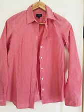 SPORTSCRAFT WOMENS SHIRT BLOUSE COTTON RED WHITE CHECKS Pocket SZ 6