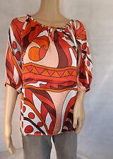 ★ APART ★ 36/38 S ~ Bluse Tunika Blusenshirt ~ orange rot ~ NEU