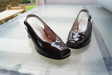 HASSIA Gina Damen Sommer Schuhe Sandalen Pumps Gr.6/ 39 lack leder schwarz #80