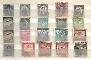 CHILE   - LOT OF VERY OLD STAMPS - some paper on back side