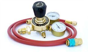 10 Bar Nitrogen OFN Regulator + hose + low side coupler  N062019