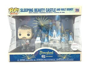 Disneyland 65th Sleeping Beauty Castle and Walt Disney Funko Pop Exclusive - NEW